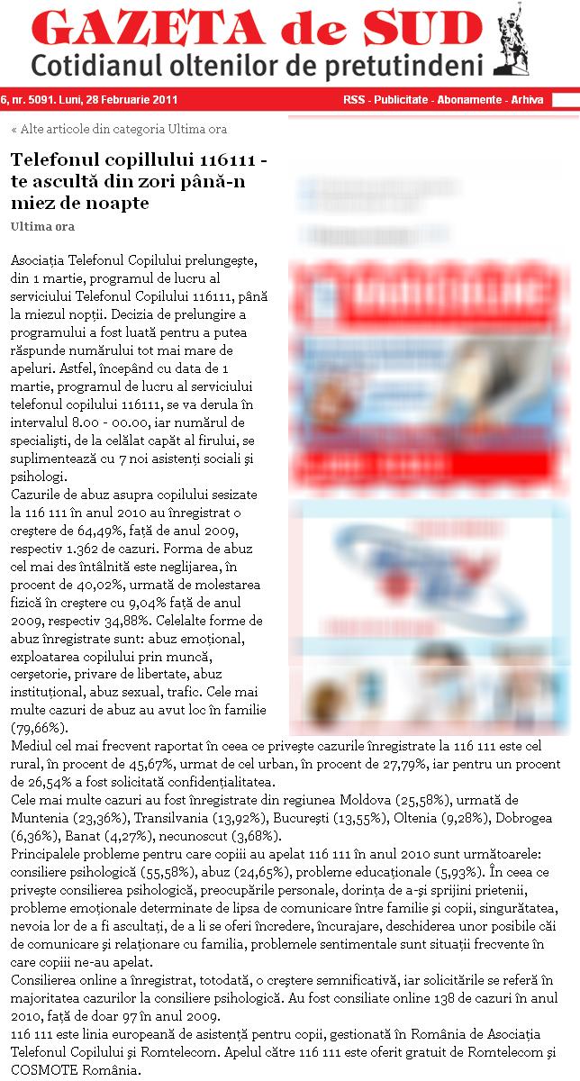Gazeta de Sud  |Gazeta De Sud